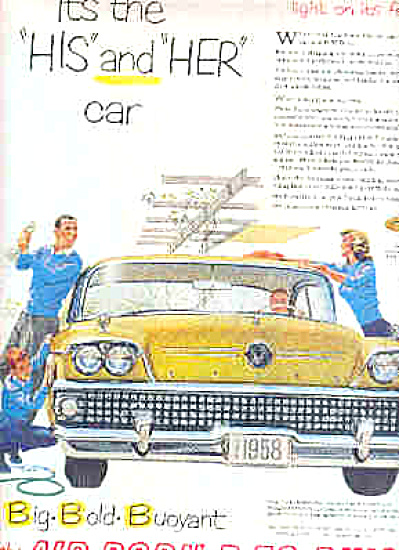 1958 BUICK His And Hers Yellow Air Born  Ad (Image1)