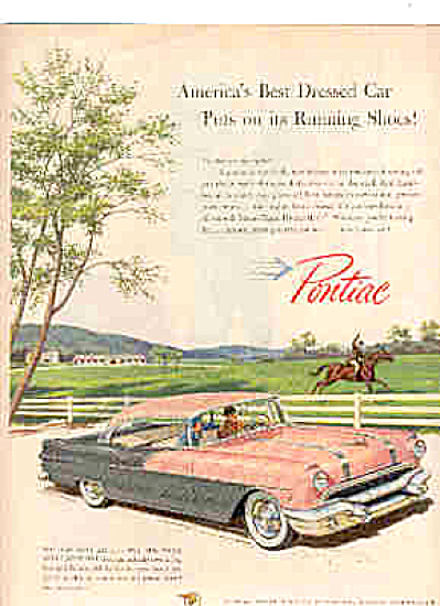 1956 Pontiac Best Dressed Car Horse Race Ad (Image1)