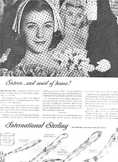 1958 International Sterling  Silverware Ad (Image1)