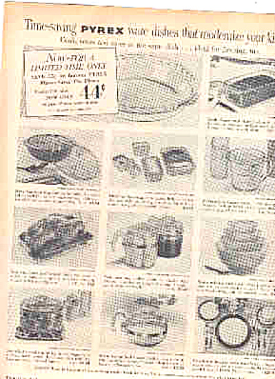 1956 Corning Glass Works Pyrex Ad (Image1)