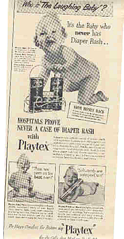 1947 Playtex Naked Laughing Baby Ad (Image1)