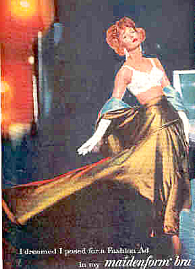 1958 Dreamed Fashion Ad Maidenform Bra Ad (Image1)