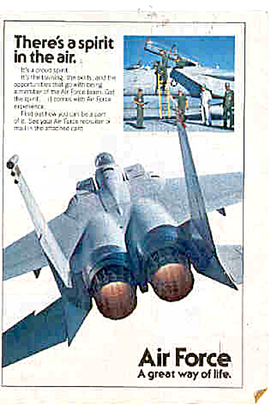 1981 Air Force Men Spirit In The Air Ad (Image1)