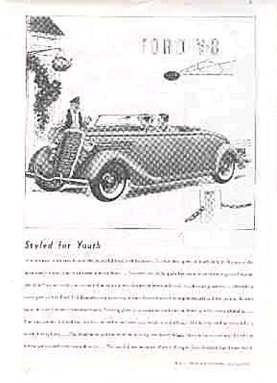 1935 Ford V-8 Roadster Ad (Image1)