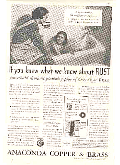 1935 Anaconda Young Girl Bathing  Tub Ad (Image1)
