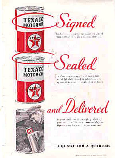 1935 Texaco Motor Oil Ad (Image1)