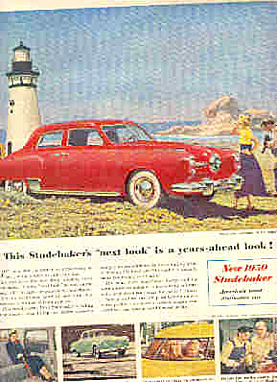 1950 Studebaker Commander LIGHTHOUSE Sedan Ad (Image1)