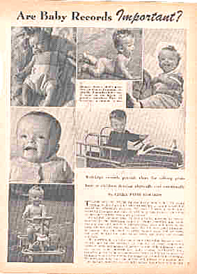 1944 Naked Baby Magazine Article (Image1)