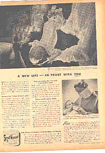 1944 Scot Tissue Naked Baby Ad (Image1)