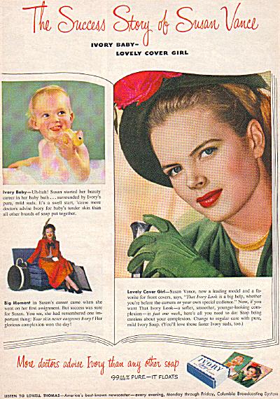 1949 Ivory Soap Susan Vance MODELNude Baby Ad (Image1)