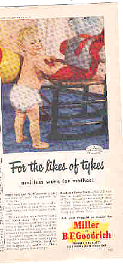 1949 B.F. Goodrich Rubber Almost Nude Baby Ad (Image1)
