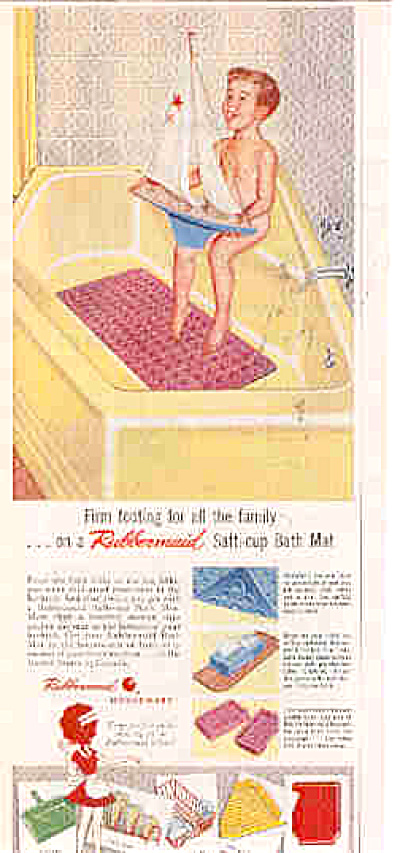 1953 Rubbermaid Naked Boy  In Bathtub Ad (Image1)
