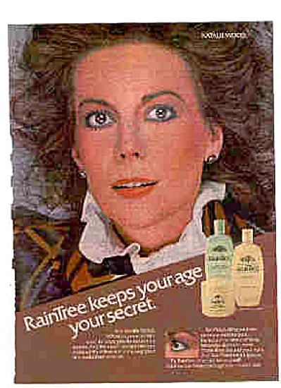 1981 Natalie Wood Raintree Beauty Lotion Ad (Image1)