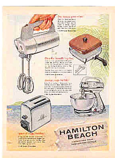 1958 Hamilton Beach Kitchen Appliances Ad