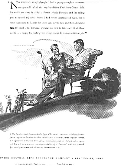 1956 Union Central Life Insurance Golf Ad (Image1)