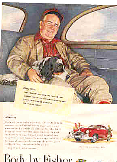 1947 Body By Fisher Pontiac Torpedo Sedan Ad (Image1)