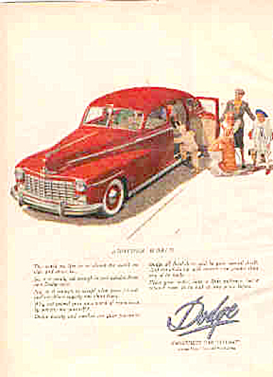 1947 Dodge CAR HALLOWEEN Ad ORIGINAL (Image1)