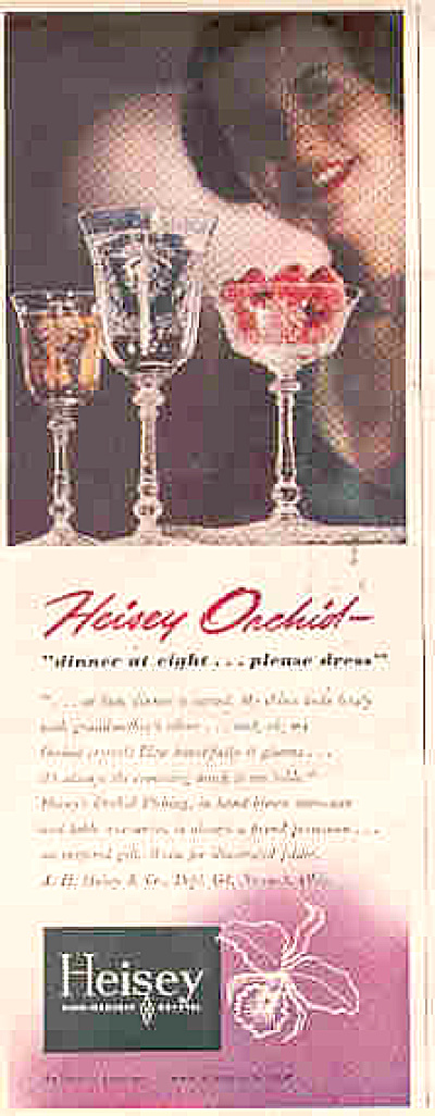 1950 Heisey Orchid Pattern Crystal Ad