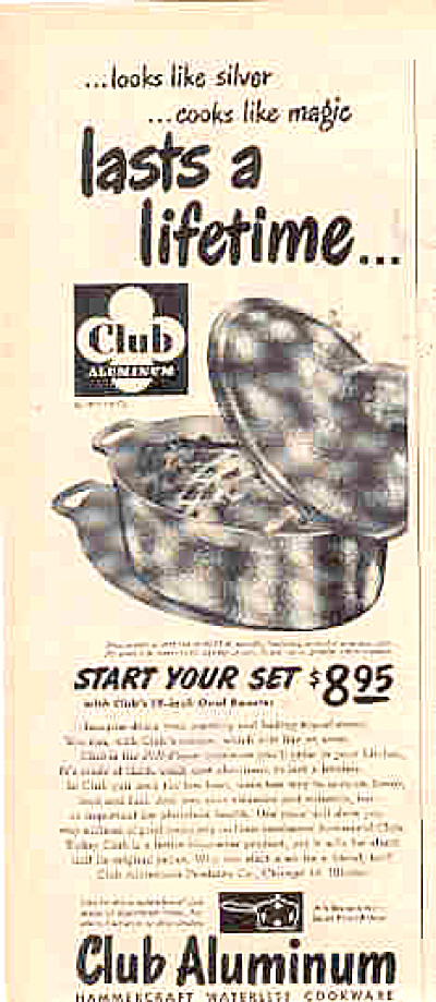 1950 Club Aluminum Roaster Ad