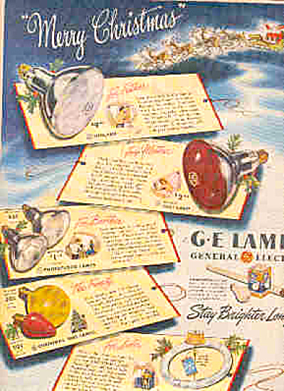 1947 G.E. Electric Light Bulbs Ad (Image1)