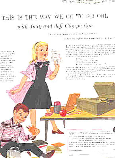 1955 Jeff N Judy Companion Record/ School Ad (Image1)