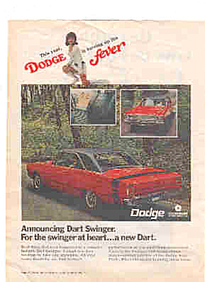 1968 Dodge Dart Swinger Dodge Fever Ad (Image1)