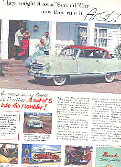 1952 Rambler Nash Golden Family Car Ad (Image1)