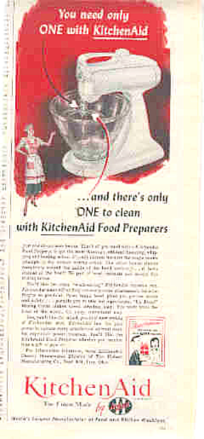 1951 Kitchen Aid Food Preparer Ad
