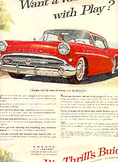 1958 Big Thrills Red Buick Car Ad (Image1)