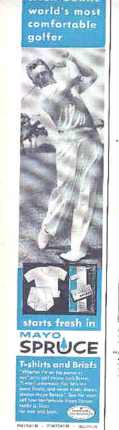 1958 Mayo Spruce Jack Burke Golfer Ad (Image1)