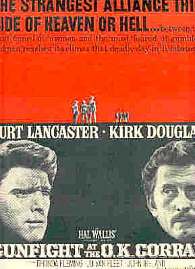 1958 Burt Lancaster/Kirk Douglas OK Corral Ad (Image1)