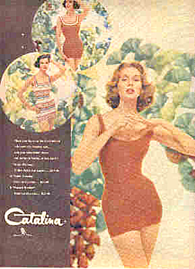 1958 Catalina SUZY PARKER Model Swimsuits Ad (Image1)