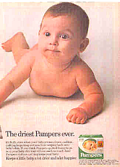 1981 Nude Baby Quilted Pampers Ad (Image1)