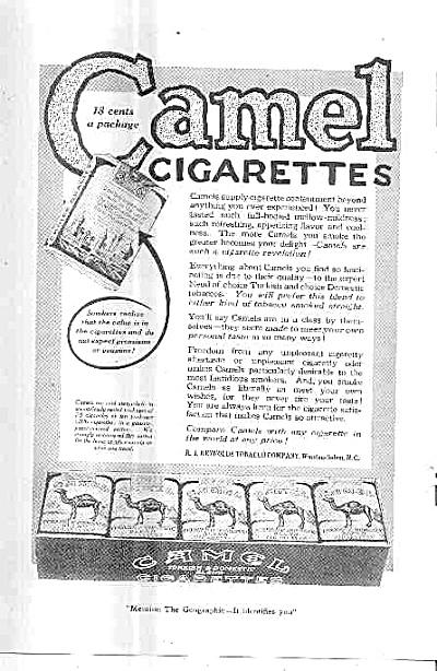 1919 Camel Cigarettes R.J. Reynolds Ad (Image1)
