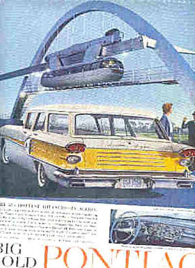 1958 Big Bold Pontiac Yellow/White Car Ad (Image1)