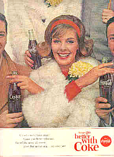 1963 COKE Lovely Teen-agers Game Day Ad (Image1)