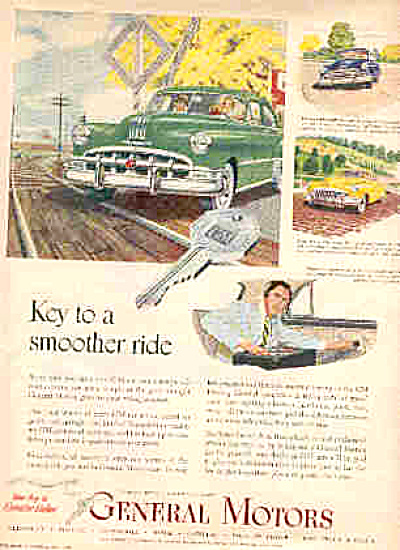 1950 Smoother Ride  General Motors Cars  Ad (Image1)
