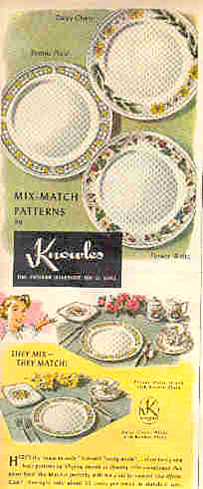 1950 Knowles Dinnerware Ad (Image1)