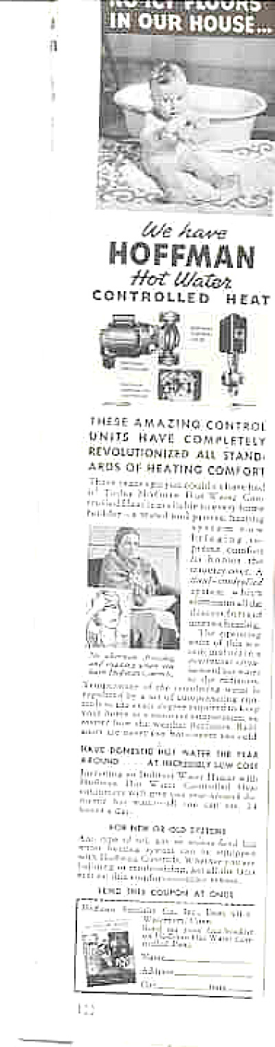 1940 Hoffman Hot Water Almost Nude Baby Ad (Image1)