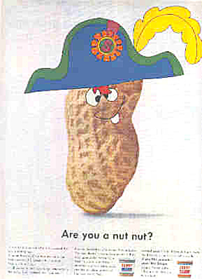 1966 Skippy Peanut Butter Nut HAT Ad (Image1)