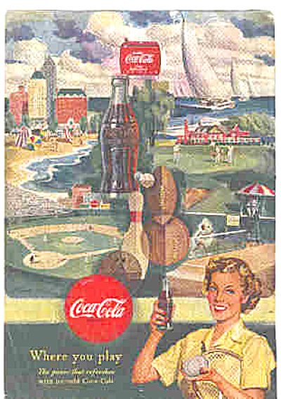 1950 Coca Cola Football Golf and More COKE Ad (Image1)