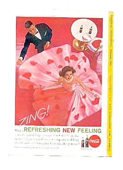 1961 Refreshing Coca-Cola Pink Hearts Ad (Image1)