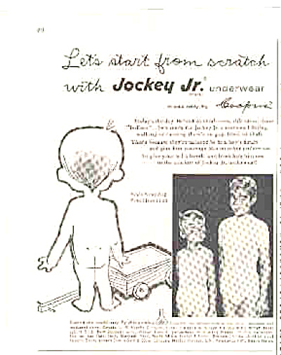 1957 Jockey Jr Boys In Underwear Ad