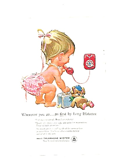 1960  BETSY BELL Teddy Bear Telephone  Ad (Image1)