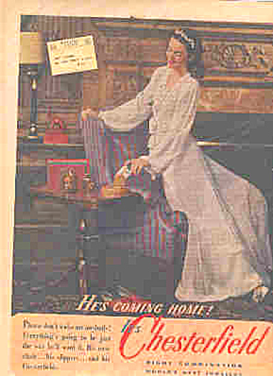 1944 Chesterfield Tabacco Lovely Lady Ad (Image1)