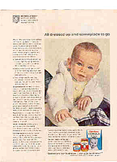 1964 Gerber Hints Baby ALL DRESSED UP Ad (Image1)
