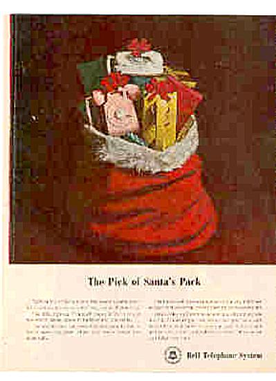 1964 Bell Telephone Santa's Pack Ad PRINCESS (Image1)