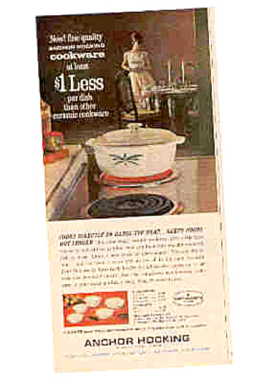1964 Anchor Hocking Cookware Ad