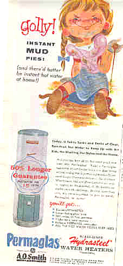 1958 Permaglas Water Heater Mud Pie Ad (Image1)