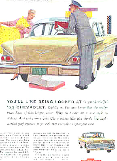 1958 Biscayne 2-Door Sedan Chevrolet Car (Image1)